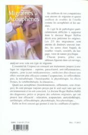 Migraines et acouphenes enfin traites - 4ème de couverture - Format classique
