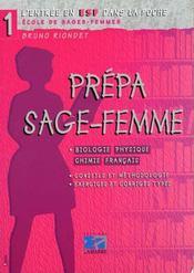 Prepa sage femme (biologie physique chimie francais) - Intérieur - Format classique