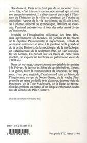 Paris animal ; un inventaire insolite - 4ème de couverture - Format classique