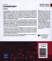 Powerpoint 2010 - 4ème de couverture - Format classique