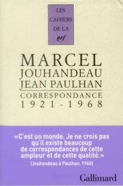 Les Cahiers De La Nrf ; Correspondance 1921-1968 - Couverture - Format classique