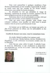 Melenchon, le seul ? lettre ouverte au peuple de gauche - 4ème de couverture - Format classique