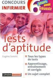 Tests D'Aptitude - Concours Infirmier - Couverture - Format classique