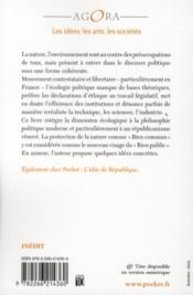 Petite philosophie de l'écologie - 4ème de couverture - Format classique