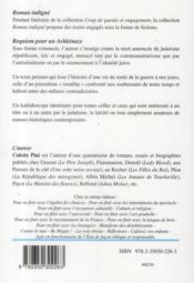Requiem pour un Ashkénaze - 4ème de couverture - Format classique