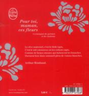 Pour toi maman, ces fleurs - 4ème de couverture - Format classique