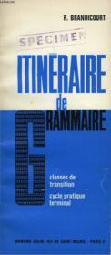 Itineraire De Grammaire - Couverture - Format classique