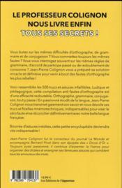 L'encyclopédie des petits trucs du professeur Colignon - 4ème de couverture - Format classique
