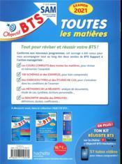 Objectif BTS ; toutes les matières ; SAM (édition 2021) - 4ème de couverture - Format classique