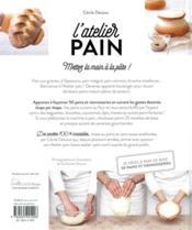 L'atelier pain ; 50 recettes de pains & viennoiseries maison pas à pas - 4ème de couverture - Format classique