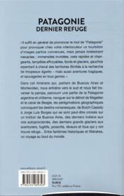 Patagonie, dernier refuge - 4ème de couverture - Format classique