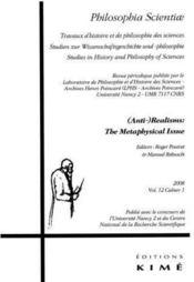 Philosophia scientiae t.12 (2008) ; (anti-)realisms : the metaphysical issue - Couverture - Format classique