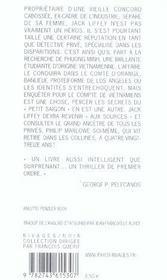 Rideau orange (le) - 4ème de couverture - Format classique
