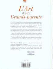 L'art d'etre grands-parents - 4ème de couverture - Format classique