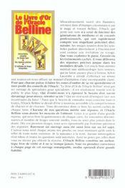 Le Livre D'Or De L'Oracle Belline - 4ème de couverture - Format classique