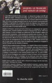 Jacques le Français ; pour mémoire du goulag - 4ème de couverture - Format classique