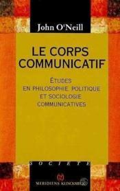 Corps communicatif (le) - Couverture - Format classique