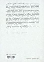 Gaston bachelard ou la solitude inspirée - 4ème de couverture - Format classique