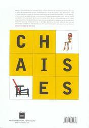 Chaises chaises chaises - 4ème de couverture - Format classique