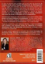 Face à l'autisme : guide juridique et pratique - procédures, réféences, recours et adresses pour toutes vos démarches - 4ème de couverture - Format classique