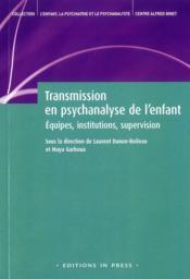 Transmission en psychanalyse de l'enfant - Couverture - Format classique