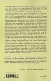 Du Cosmos A La Conscience Meandres Philosophiques - 4ème de couverture - Format classique