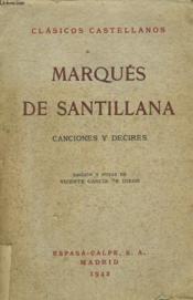 Canciones Y Decires - Couverture - Format classique