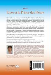 Elyse et le prince des fleurs - 4ème de couverture - Format classique