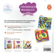 Coloriages magiques ; les animaux ; MS - 4ème de couverture - Format classique