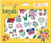Mes p'tits tattoos ; fleurs - Couverture - Format classique