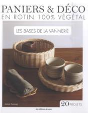 Paniers & déco en rotin 100% végétal - Couverture - Format classique