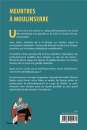 Meurtres à Moulinserre - 4ème de couverture - Format classique