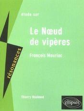 Etude Sur Le Noeud De Viperes Francois Mauriac - Intérieur - Format classique