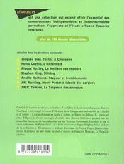 Etude Sur Le Noeud De Viperes Francois Mauriac - 4ème de couverture - Format classique