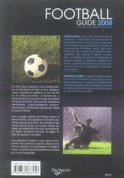 Guide du foot français et international (édition 2008) - 4ème de couverture - Format classique