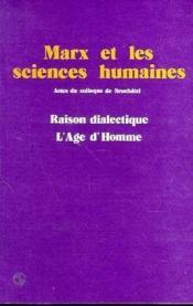 Marx Et Les Sciences Humaines - Couverture - Format classique