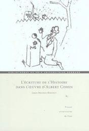 L Ecriture De L Histoire Dans L Uvre D Albert Cohen - Intérieur - Format classique