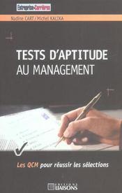 Test D'Aptitude Au Management. Les Qcm Pour Reussir Les Selections - Intérieur - Format classique