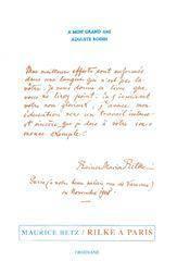Rilke a paris - Couverture - Format classique