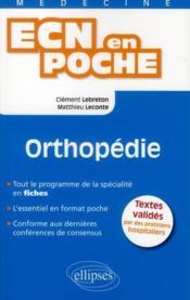 Orthopedie Tout Le Programme En Fiches L'Essentiel En Format Poche - Couverture - Format classique