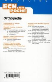 Orthopedie Tout Le Programme En Fiches L'Essentiel En Format Poche - 4ème de couverture - Format classique
