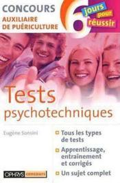 Tests Psychotechniques - Concours Auxiliaire De Puericulture - Couverture - Format classique