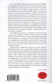 Correspondance intime - 4ème de couverture - Format classique