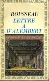 Lettre A D'Alembert - Couverture - Format classique