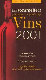 Guide des vins sommeliers ; edition 2001 - Intérieur - Format classique