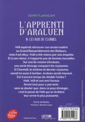L'apprenti d'Araluen t.8 ; les rois de Clonmel - 4ème de couverture - Format classique