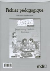 J'AIME MON ECOLE ; des escargots dans la classe ! ; fichier pédagogique - Couverture - Format classique
