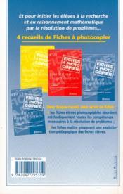 Problèmes de maths ; CM2 ; fichier photocopiable - 4ème de couverture - Format classique