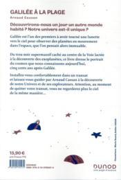 Galilée à la plage ; l'astronomie dans un transat - 4ème de couverture - Format classique