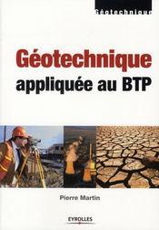 La géotechnique appliquée au BTP - Intérieur - Format classique